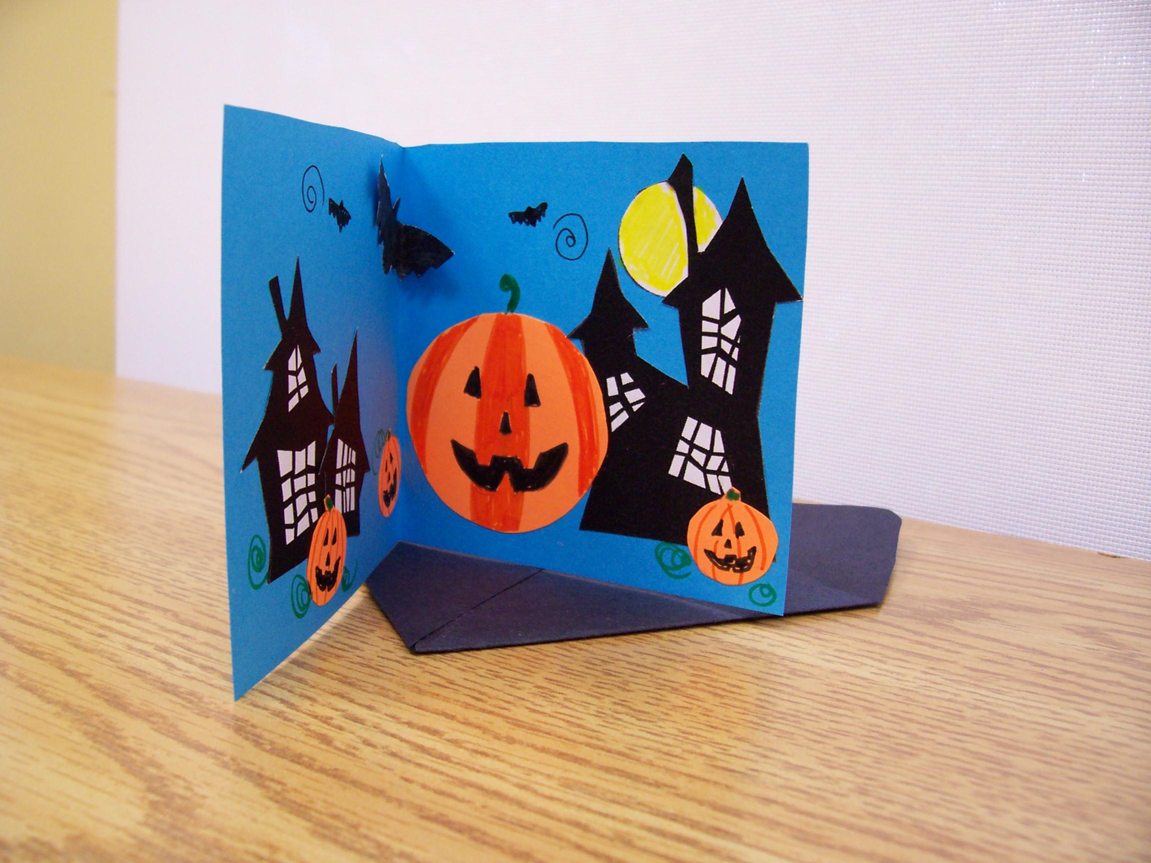 Halloween Figuurtjes Maken.Halloween Kaarten Knutselen Brekelmansadviesgroep
