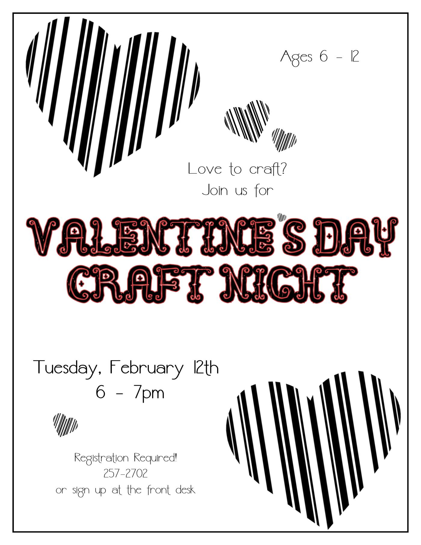 Valentine S Craft Night Tales From An Open Book