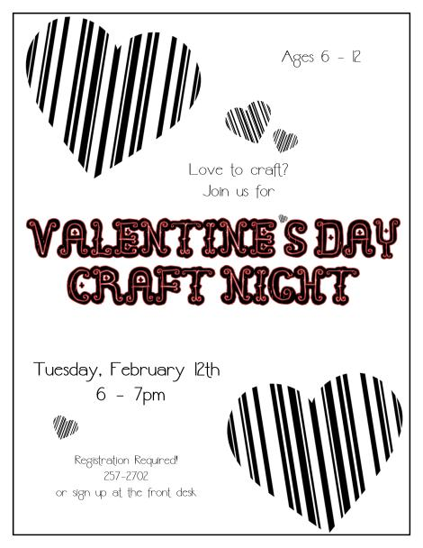 Valentine's Craft Night 2013