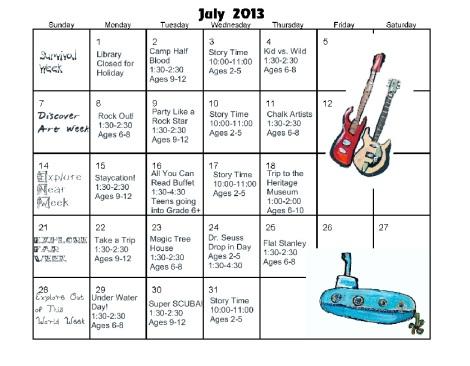 July Calander JPEG