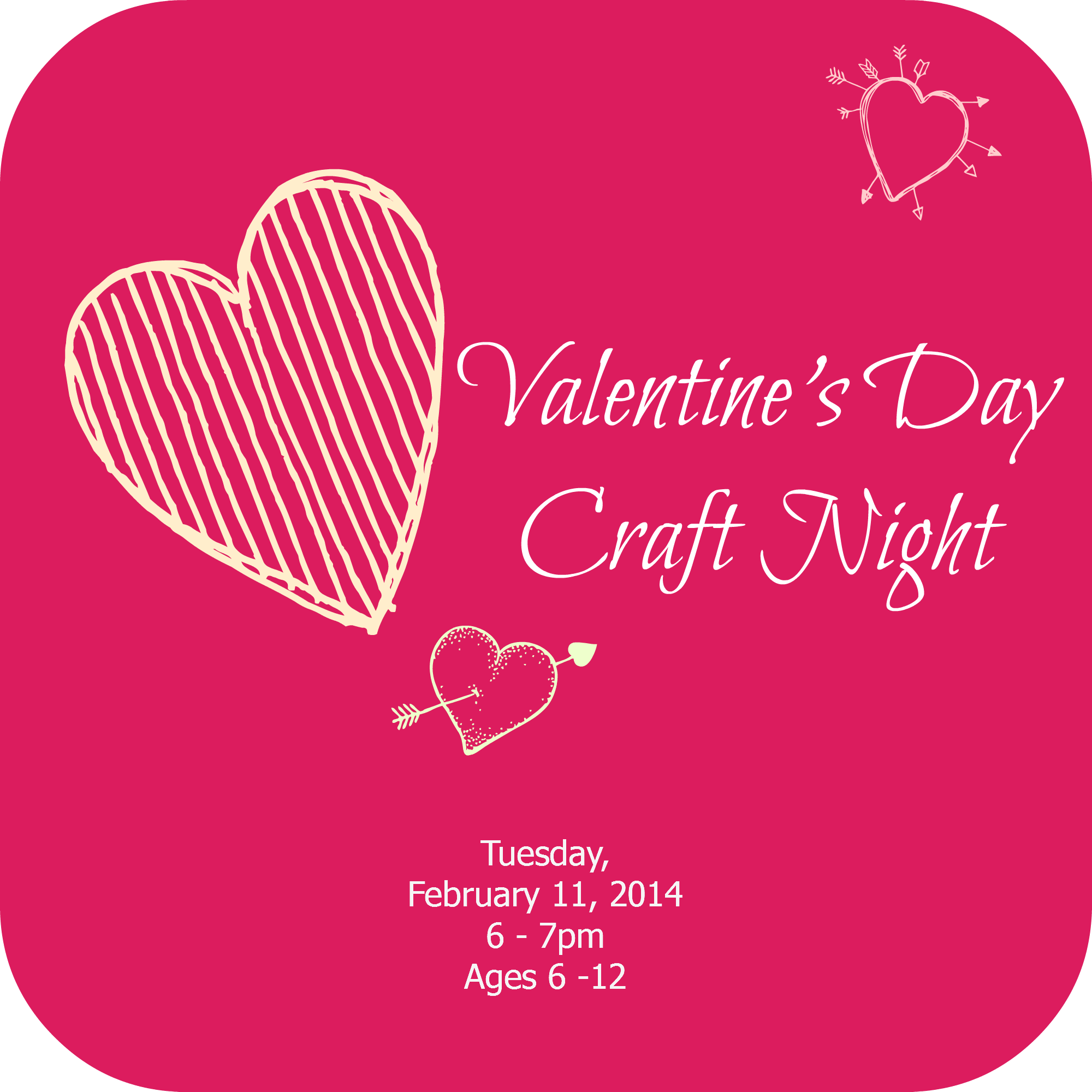 Valentine S Day Craft Night Tales From An Open Book