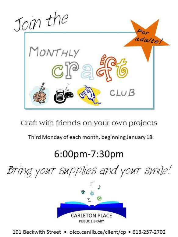 Craft club DEC14