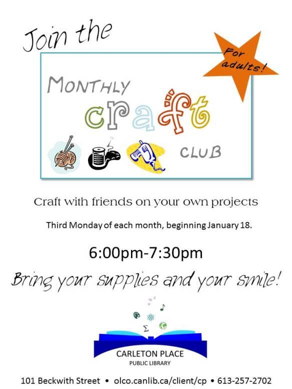 Craft club DEC14