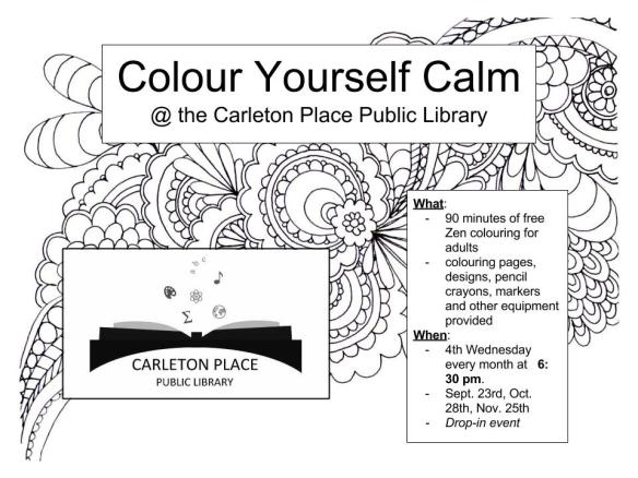 Colour Yourself Calm Poster