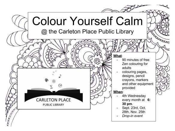 Colour Yourself Calm Poster