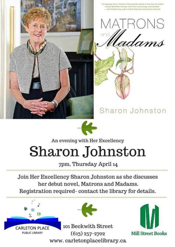 Her Excellency Sharon Johnston discusses her debut novel MATRONS AND MADNESS