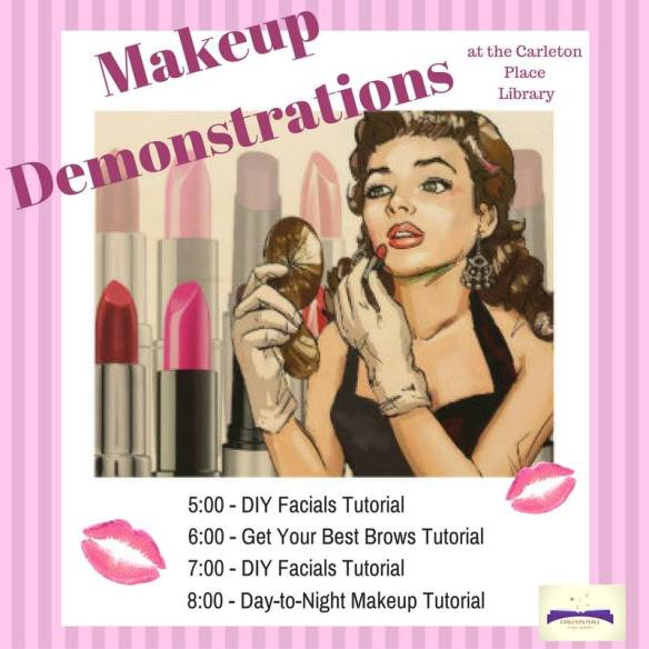 Makeup demonstrations at the Carleton Place Public Library